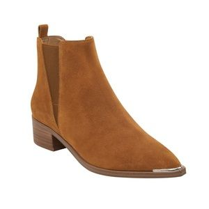 Marc Fisher LYD Textured Yale Suede Bootie Sz 37
